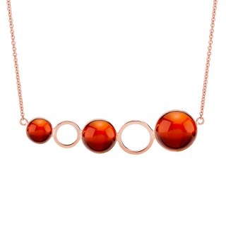 Droplets necklace in cherry amber