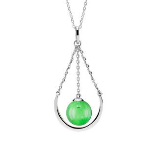 Enchanted Circus necklace in Aurora Green Amber
