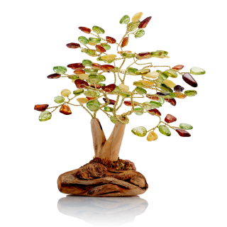 Fortune Tree in Aurora Green amber mix - 108 leaves