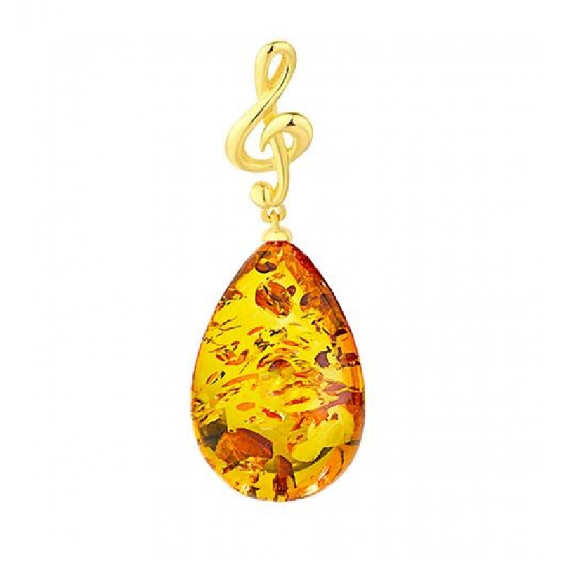 Classic Selection pendant in cognac amber