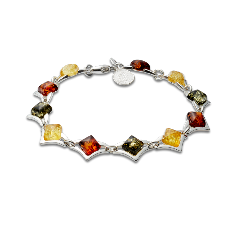 Classic Selection bracelet in mixed amber colours