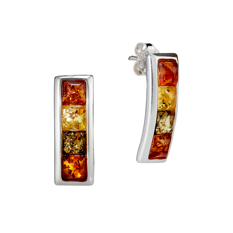 Classic Selection earrings in mixed amber colours