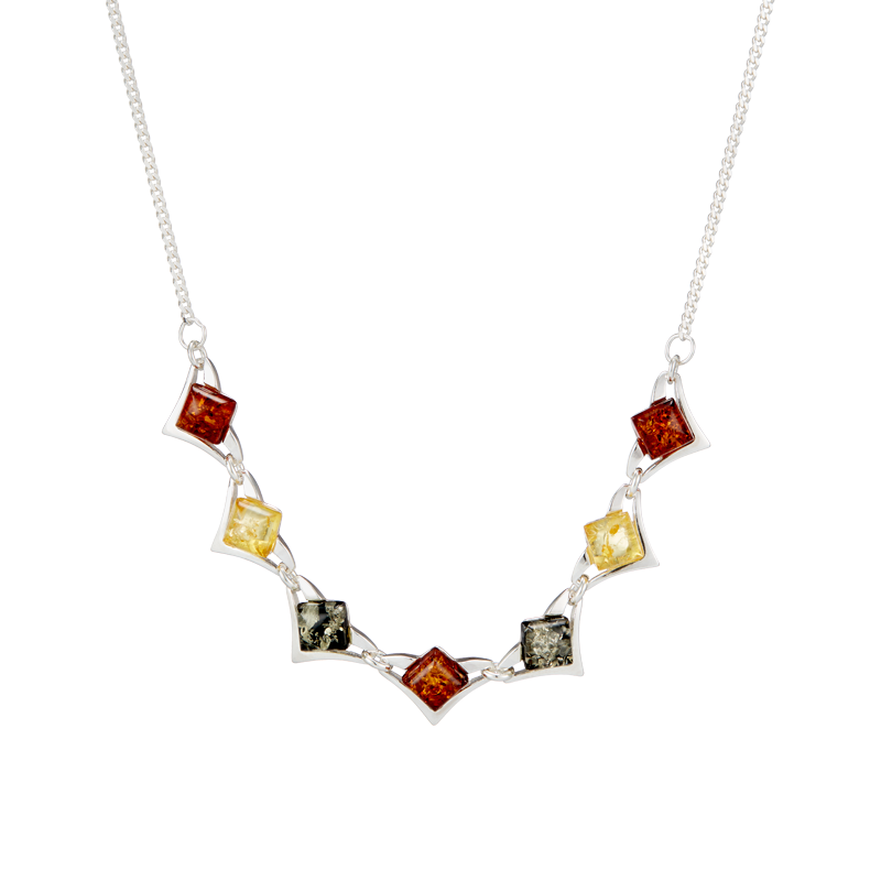 Classic Selection necklace in mixed amber colours