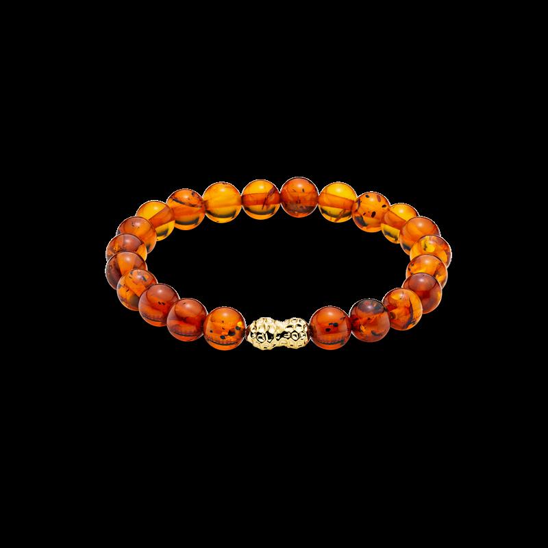Mother & Me kids bracelet in cognac amber