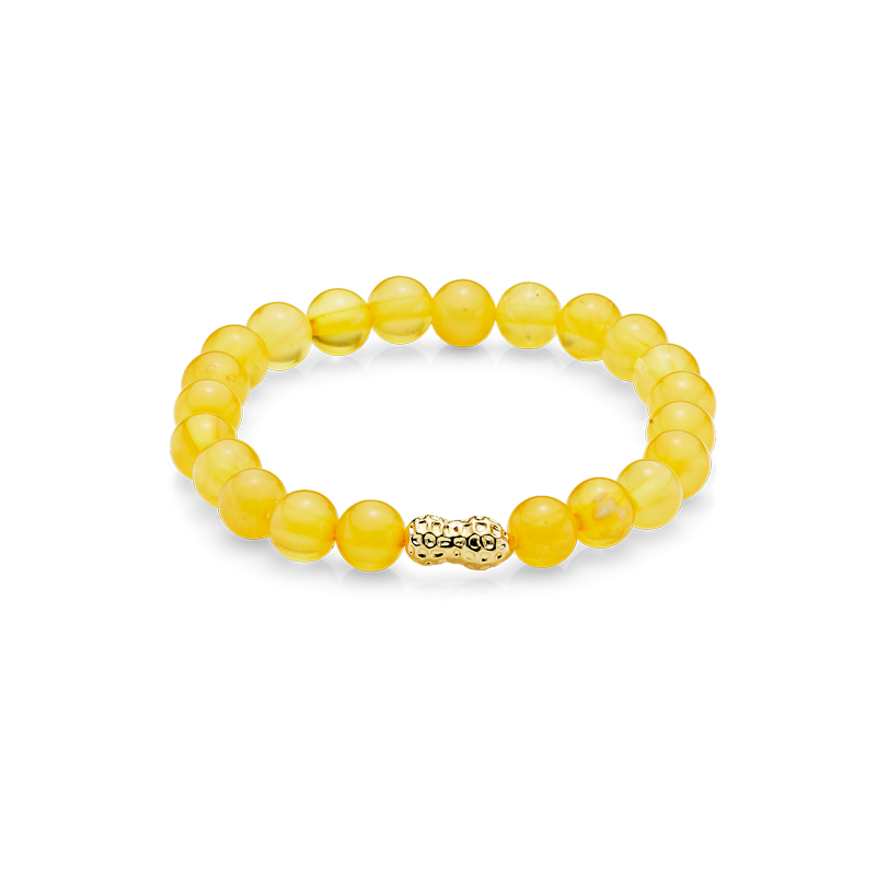 Mother & Me kids bracelet in milky amber