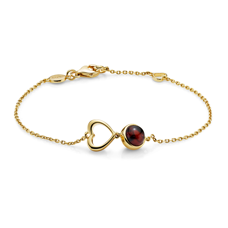 Mother & Me bracelet in cognac and cherry amber