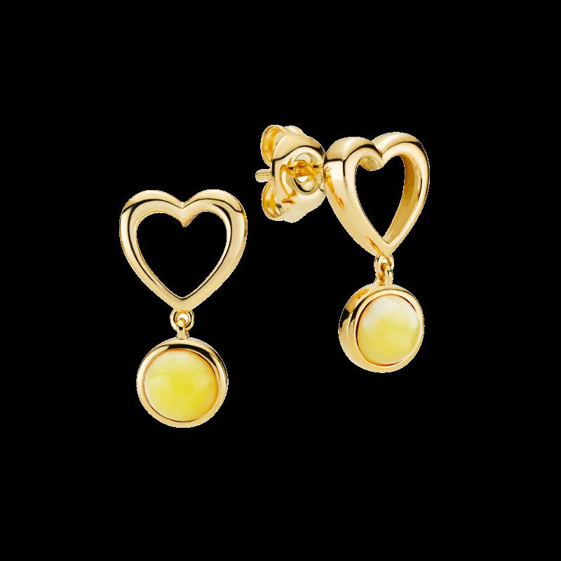 Mother & Me earrings in milky amber