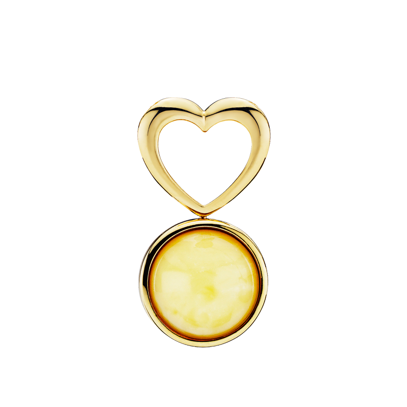 Mother & Me pendant in milky amber