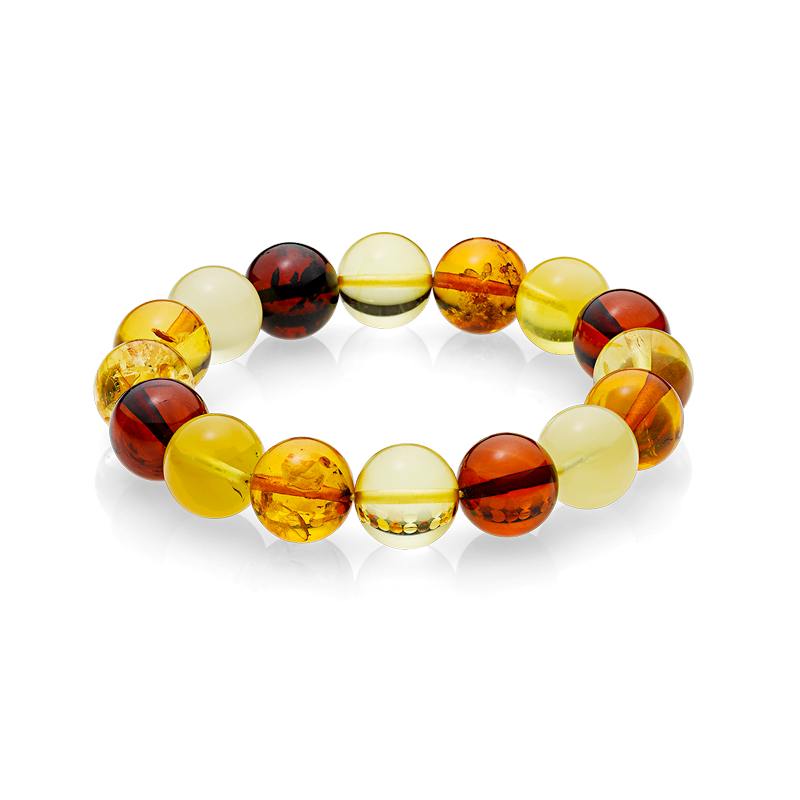 Pure Mixed Amber bracelet (14mm)