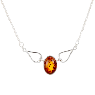 Classic Selection necklace in cognac amber