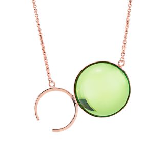 Droplets necklace in Aurora Green Amber