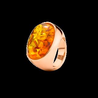 Enlightened Enamel ring in cognac amber