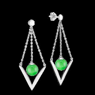 Enchanted Circus earrings in Aurora Green Amber