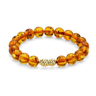 Mother & Me bracelet in cognac amber