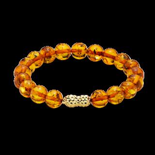 Mother & Me bracelet in cognac amber