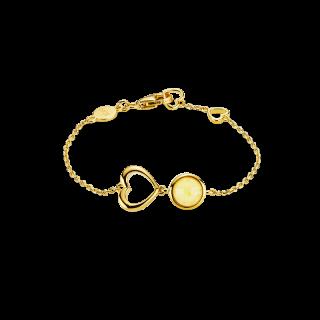 Mother & Me kids bracelet in milky amber