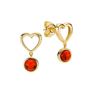 Mother & Me earrings in cognac amber