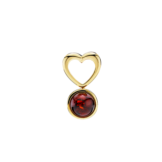 Mother & Me kids pendant in cognac and cherry amber