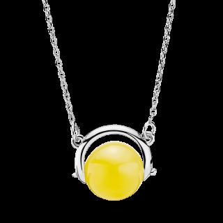 Nordic Seasons necklace in milky amber - 70 cm