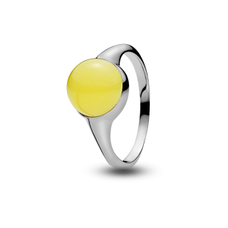 Nordic Seasons ring in milky amber