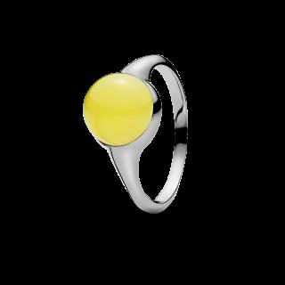 Nordic Seasons ring in milky amber