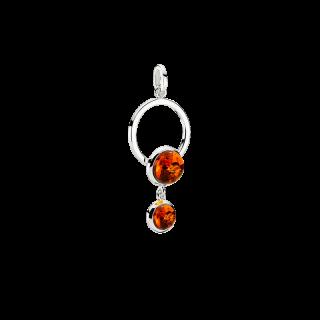 Precious Moon pendant in cognac amber