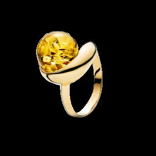 Waves ring in cognac amber