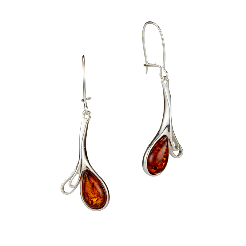Classic Selection earrings in cognac amber