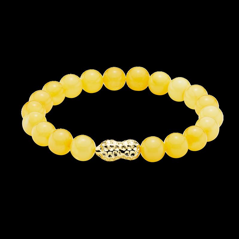 Mother & Me bracelet in milky amber