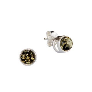 Classic Selection earrings in Baltic green amber