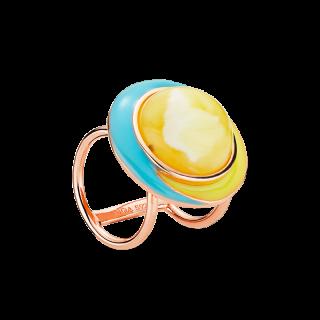 Enlightened Enamel scarfbuckle in milky amber and enamel