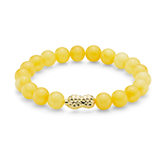 Mother & Me bracelet in milky amber