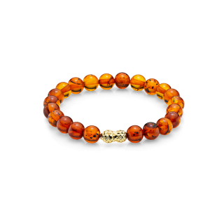 Mother & Me kids bracelet in cognac amber