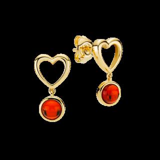 Mother & Me earrings in cognac amber