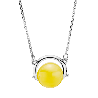 Nordic Seasons necklace in milky amber - 45 cm