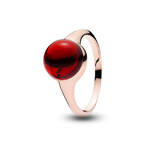 Nordic Seasons ring in cherry amber