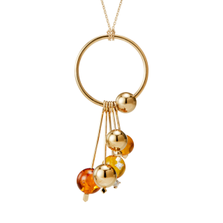One Rhythm necklace by Maysoun Kanaan in cognac amber