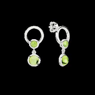 Precious Moon earrings in Aurora Green amber