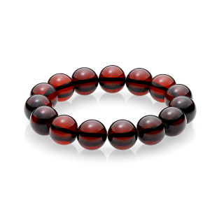 Pure Amber cherry bracelet (12mm)